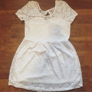 Lace white dress cute elegant